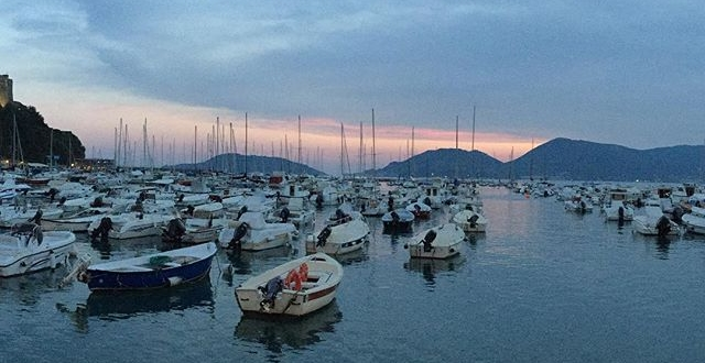 #nofilter #lerici #italy #beautiful #sunset #sea #bay #colors #sky