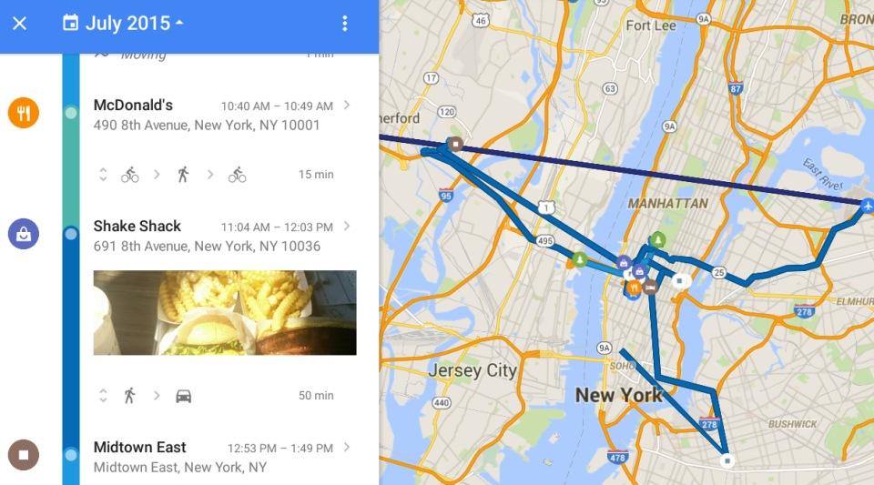Your Timeline   Google Maps   Luoghi visitati